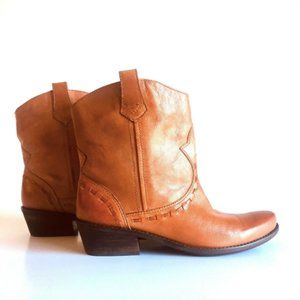 Franco Sarto Brown Leather Ankle Boots size 8.5 M